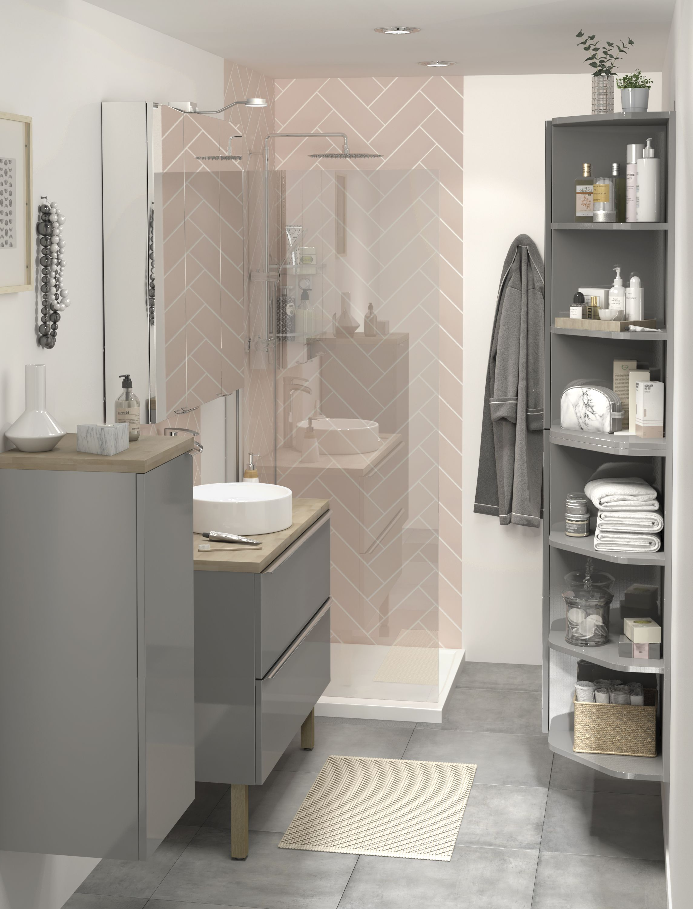 The Imandra bathroom collection from B&Q not only comes in ...
