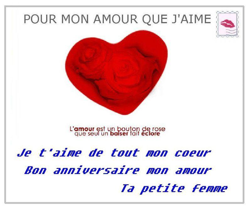 Pour Mon Amour Que J Aime Joyeux Anniversaire Mon Amour Bon Anniversaire Mon Amour Joyeuse Anniversaire