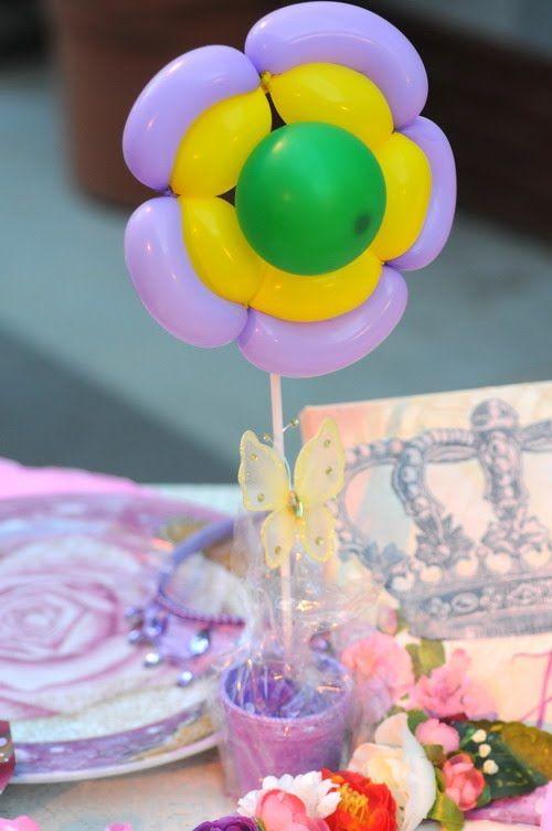 Columna mini para centro de mesa Decoración con globos Pinterest