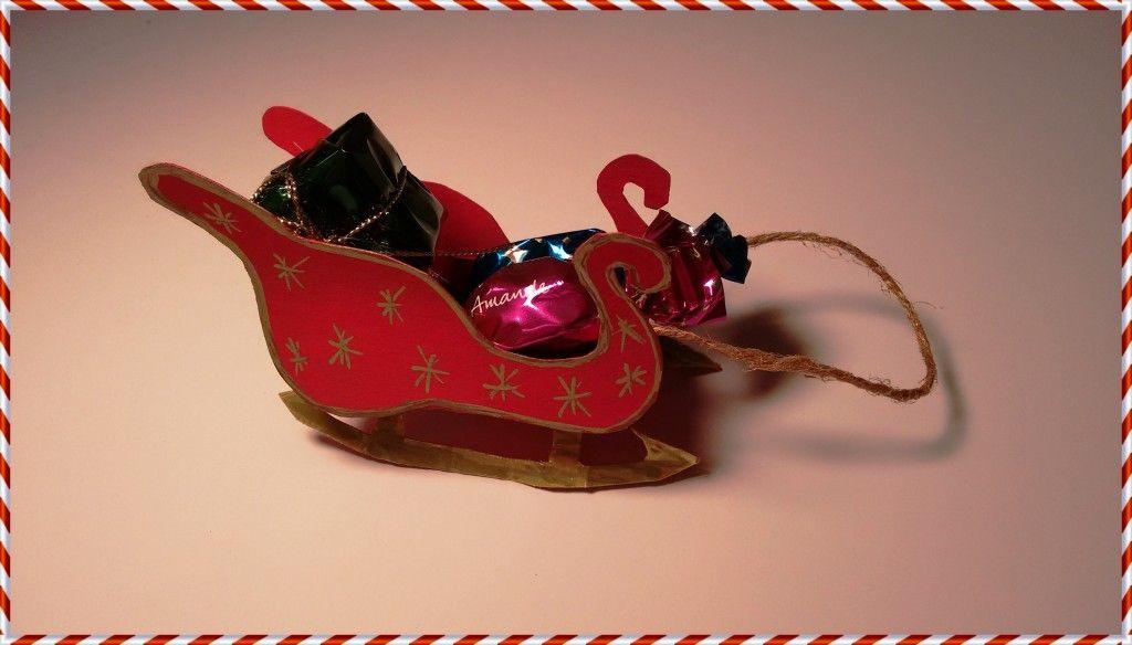 Manualidades para Navidad Trineo de Papá Noel    wwwkidearea - manualidades para navidad