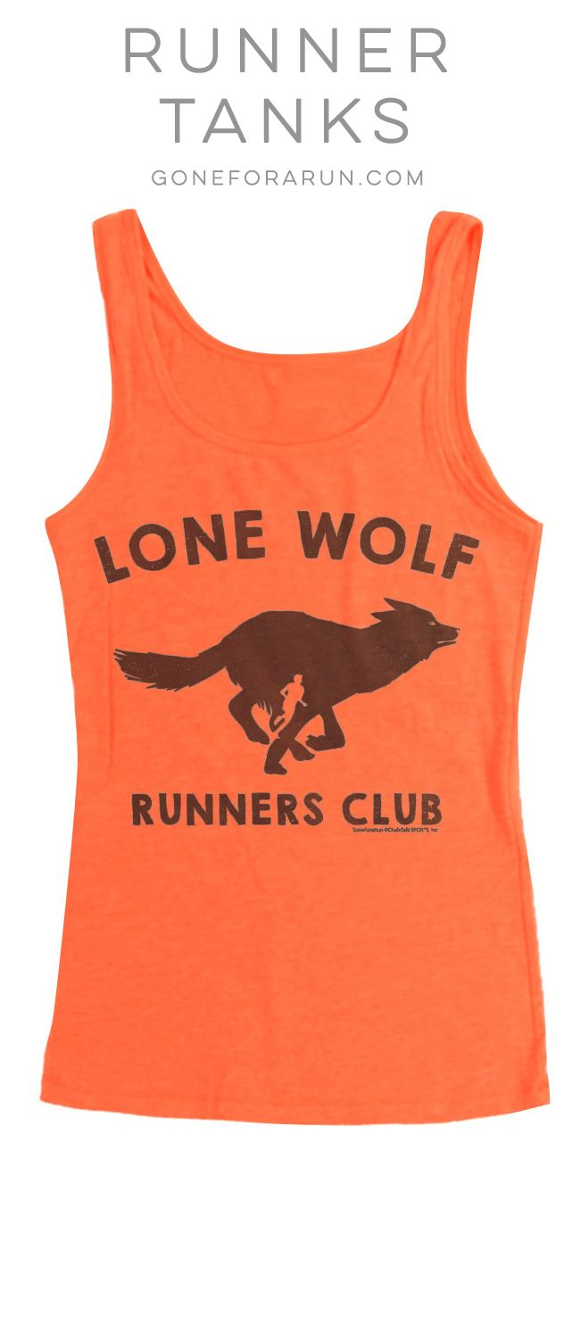 40a7a7718ad8b Lone Wolf Runners Club Running Tank Top. Perfect running tank if you prefer  the peace and quiet of the trail.