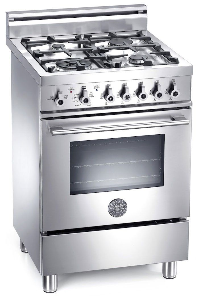 Bertazzoni Professional Series Pro244gas 24 In Pro Style Gas Range Small Stove Gas Range Cookers Range Cooker