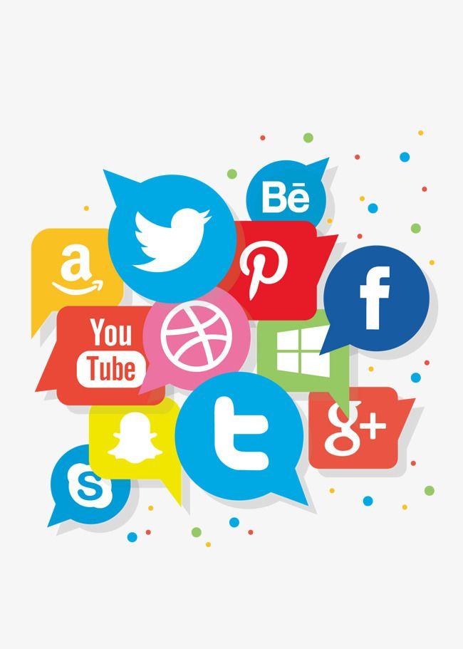 Social Media Symbol Vector Logo Design Pinterest Social Media