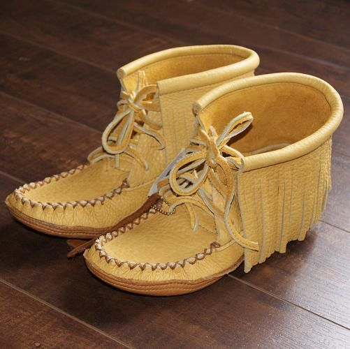 c4d1ffb9fa8 Men s Genuine Moosehide Leather Moccasin Boots with Durable Soft Sole - 180M