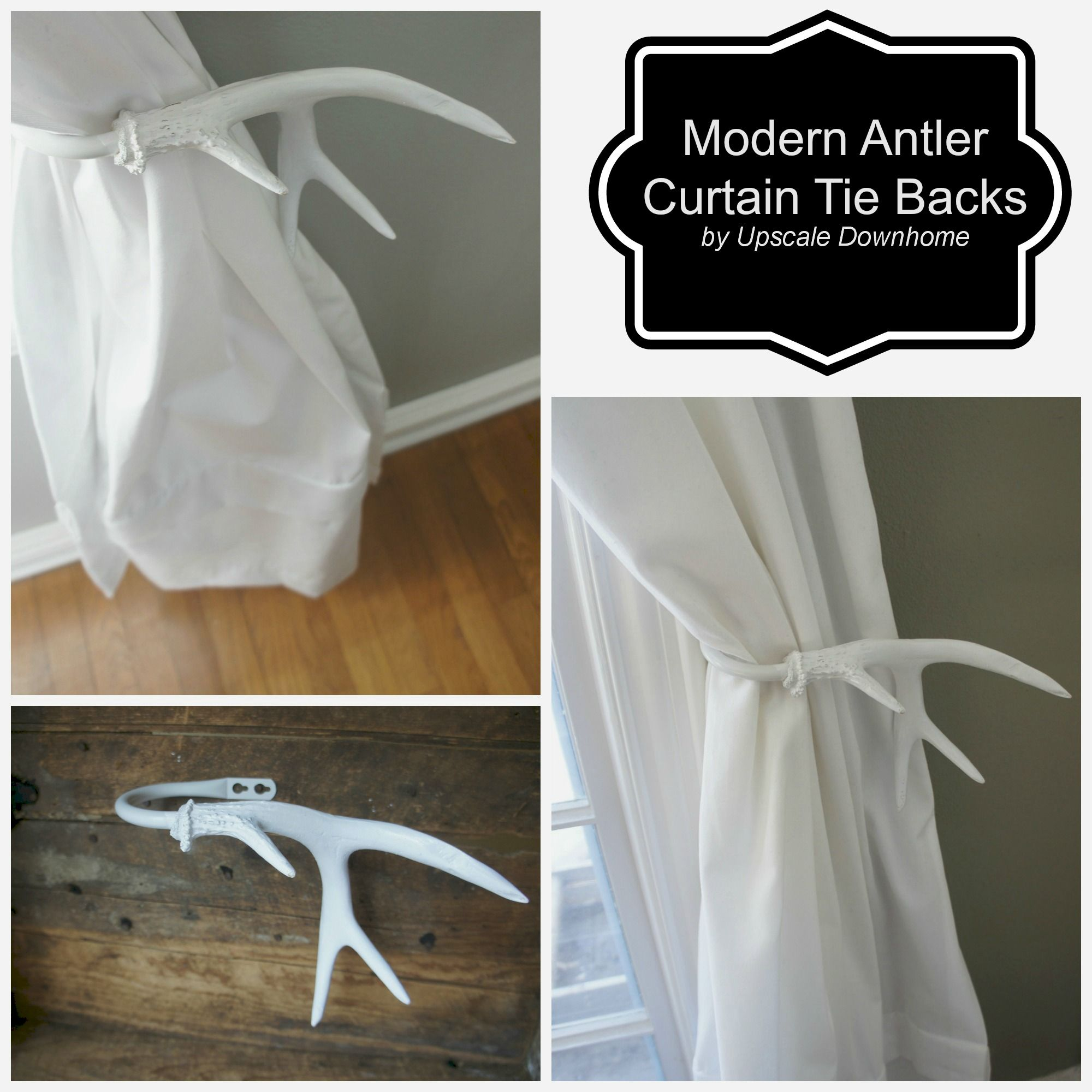A Modern Take On The Antler Tie Back---crisp White Makes