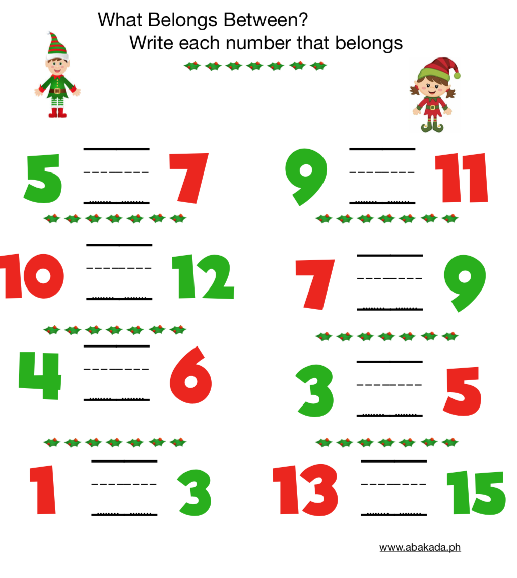 Free Downloadable Holiday Math Worksheets For Preschoolers