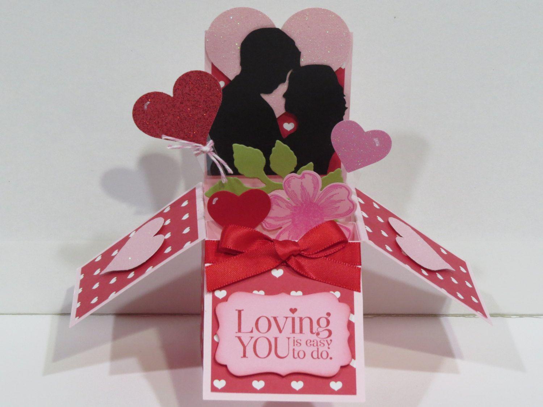 3D handmade Pop Up card in a Box valentine card by ILOVEMOM07