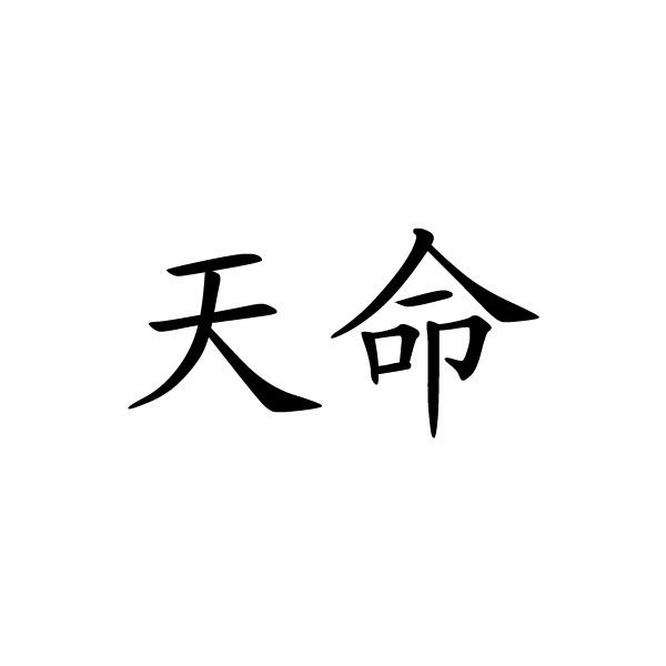 Chinese Symbol For Destiny Chinese Character Writing Letter
