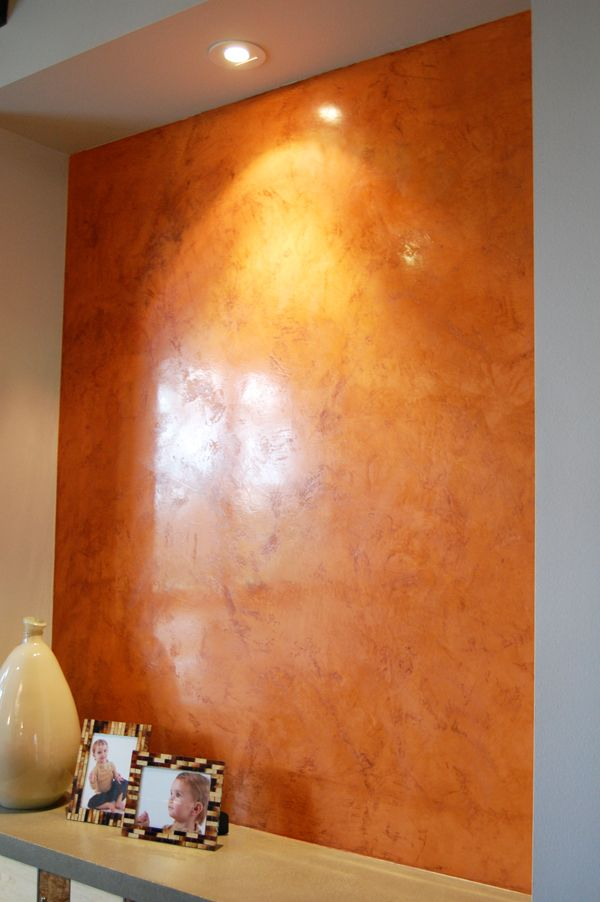 I did venetian plaster of a similar color in my dining for Concrete wall painting techniques