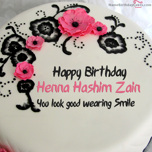 I have written henna hashim zain Name on Cakes and Wishes on this