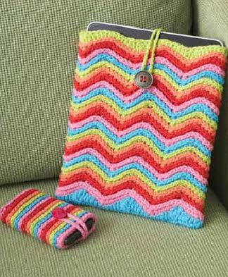 Knitting Patterns For Zingy : Lily  Sugar  n Cream  Rainbow Stripes Tablet or Phone ...