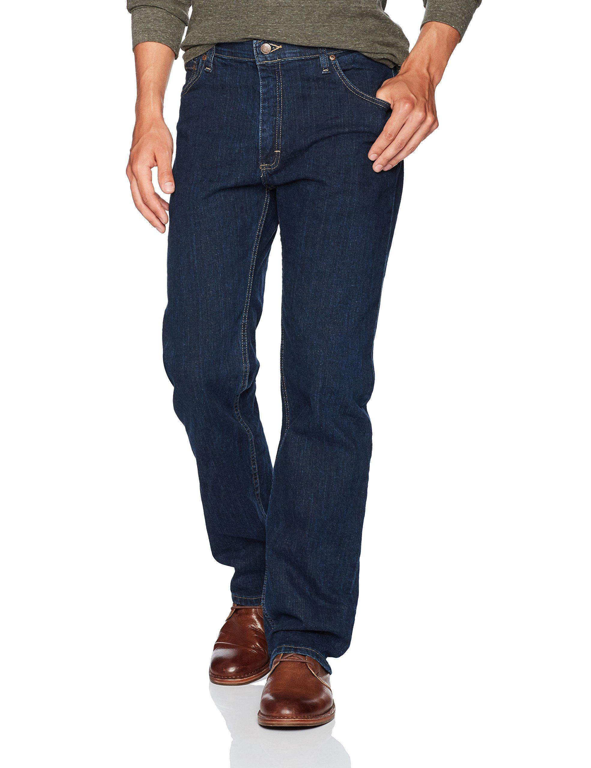 Wrangler Authentics Men's Regular Fit Comfort Flex Waist Jean | Mens jeans, Designer denim jeans, Blue jeans mens