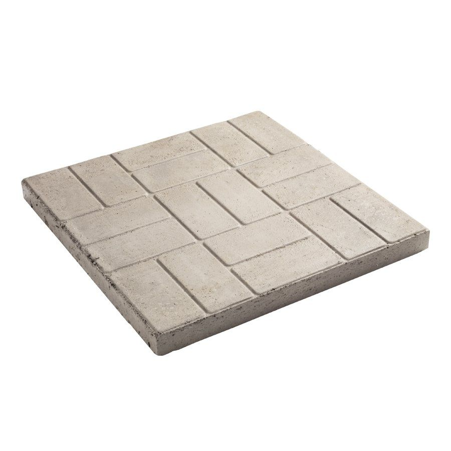 Decor 24 In Square Brick Pattern Patio Stone At Lowe S Canada