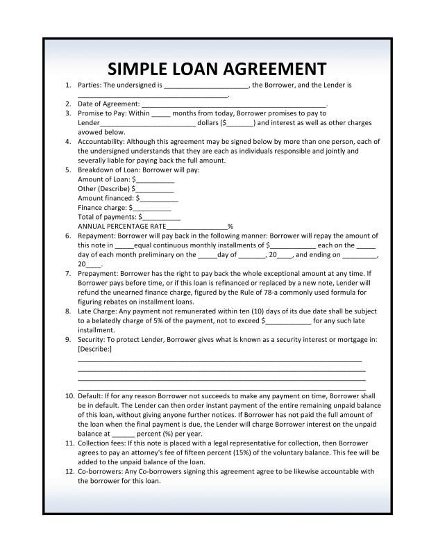 personal loan agreement pdf personal loans. Black Bedroom Furniture Sets. Home Design Ideas