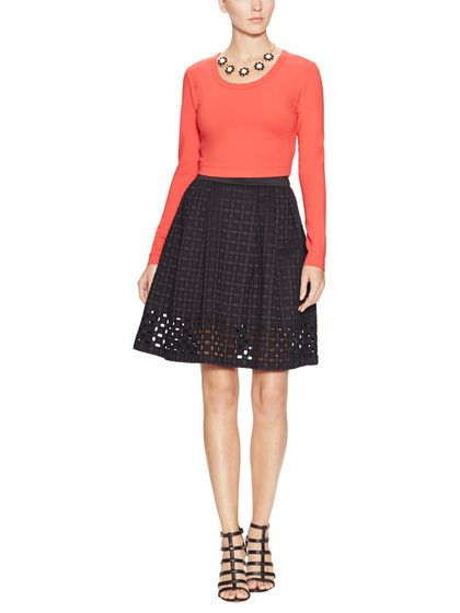 Helana Embroidered Cut-Out Skirt by Catherine Malandrino. orig  $295, only $149  at Gilt