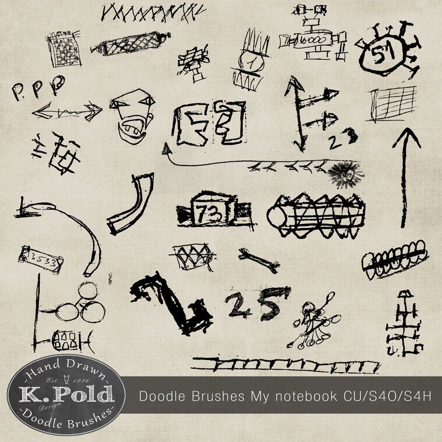 Freebie Doodle photoshop brushes My notebook