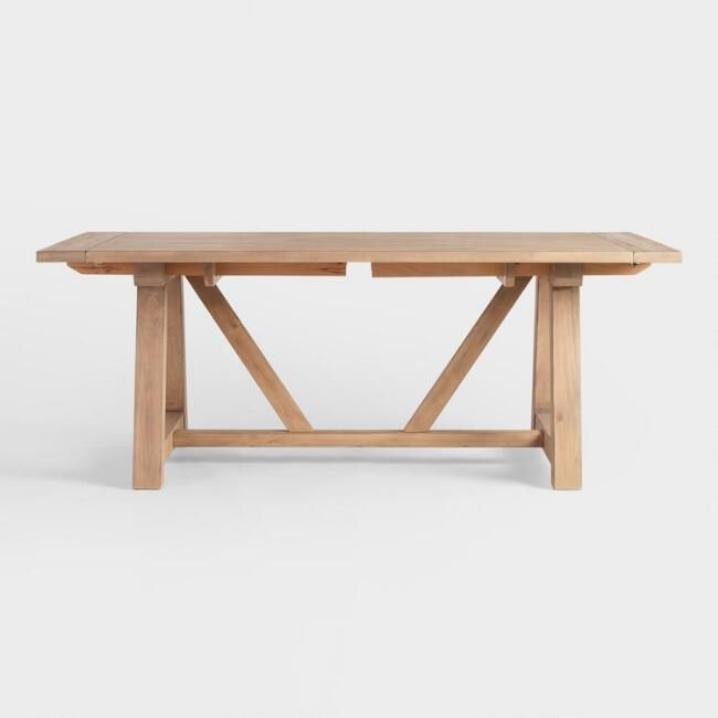 Wood Leona Farmhouse Extension Dining Table V3 O Kennard