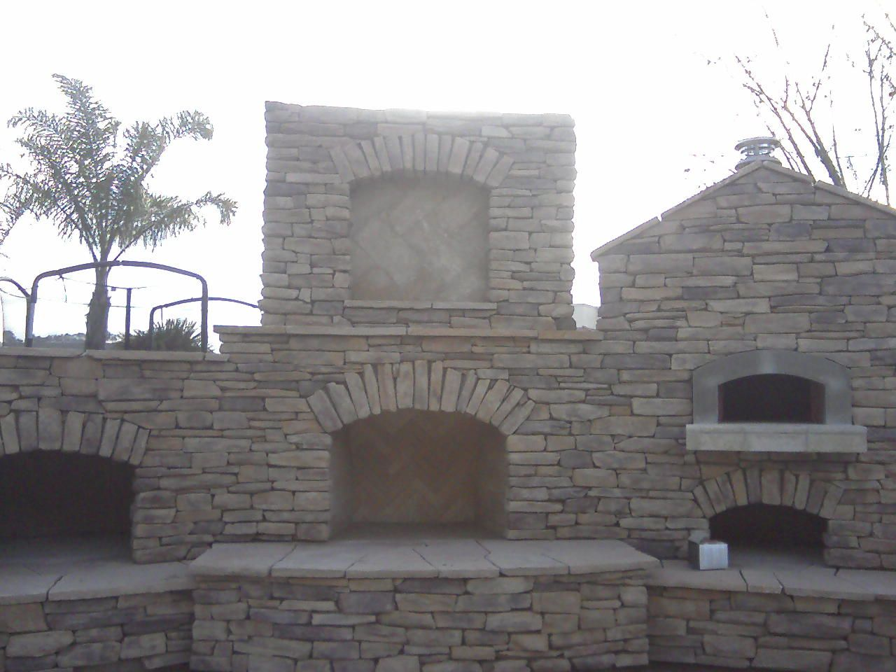 Smoker Fireplace And Brick Oven Combo Yes Please