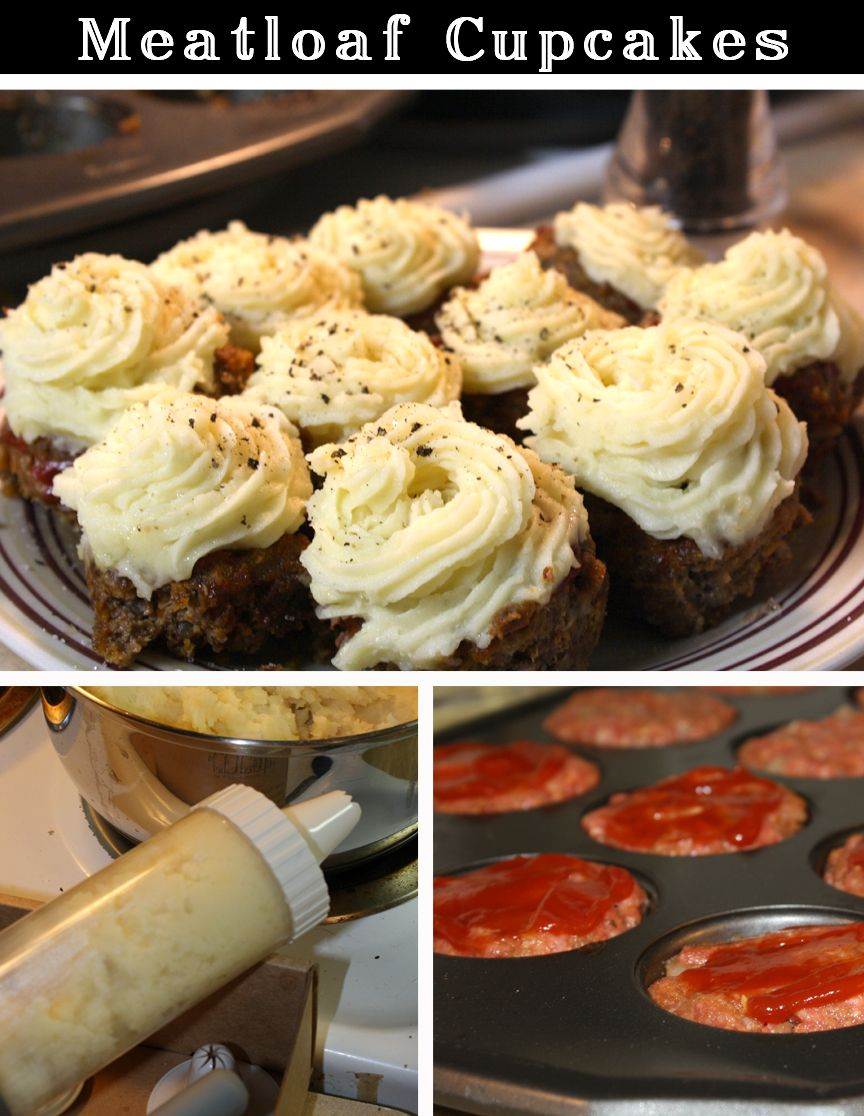 Meatloaf cupcakes recipes pinterest