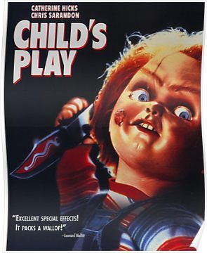 Child S Play Poster By Genoapparell In 2021 Child S Play Movie Kids Playing Scary Movies