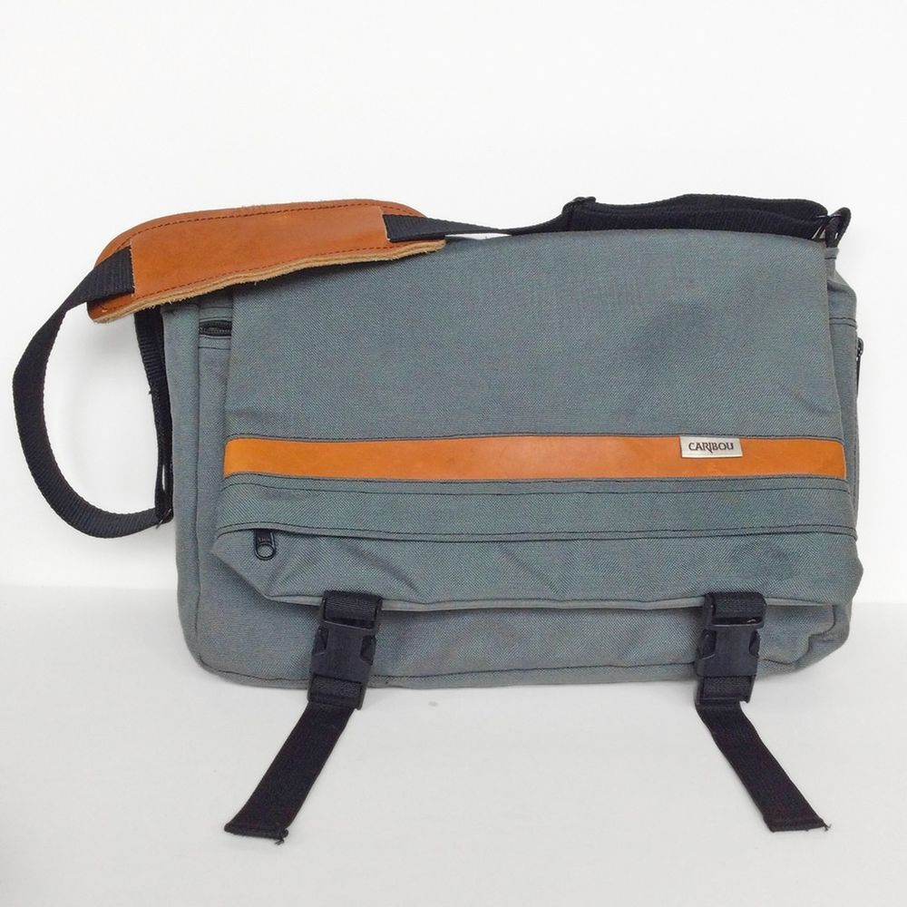 f27a62352 Vintage Caribou Mountaineering Messenger Computer Multi-Compartment Bag  Chico CA #CaribouMountaineering #Messenger