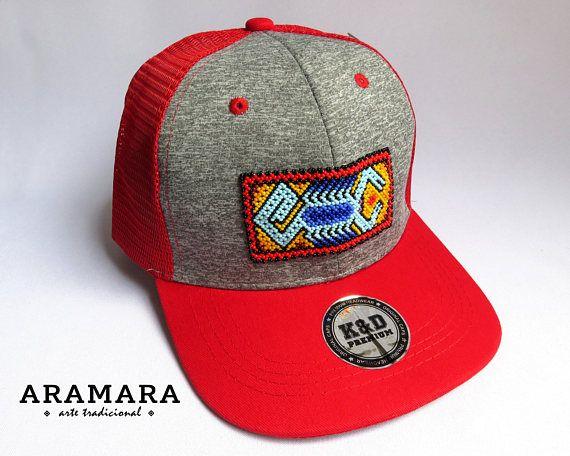 35c65b06 Huichol Beaded Cap, Trucker hat, Baseball Cap, Snapback cap, Beaded ...