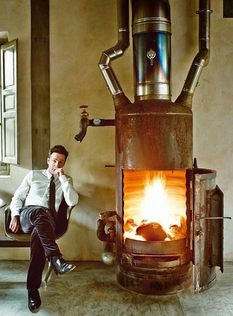 O AntiDesign Aplicado  Lareiras churrasqueira e afins  Stove fireplace Fireplace design e