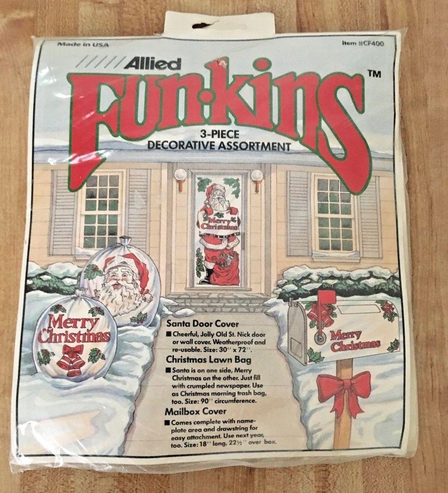 Vintage Funkins 3 Pc Weatherproof Santa Christmas Door Bag u0026 Mailbox Cover NEW #AlliedPlastics  sc 1 st  Pinterest & Vintage Funkins 3 Pc Weatherproof Santa Christmas Door Bag ...