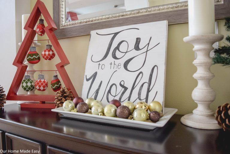 Photo of A Simple Christmas Entryway  A beautiful simple Christmas Entryway & Foyer! Deco…