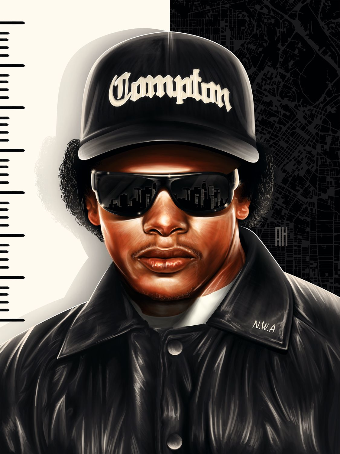 Eazy E Hip Hop Artwork Hip Hop Art Celebrity Artwork