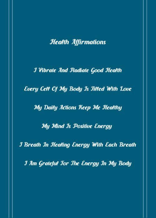 Free membership health affirmations pinterest affirmation balance the energy in your body with positive health affirmations printed on this amazing greeting card the perfect gift for any celebration with your m4hsunfo