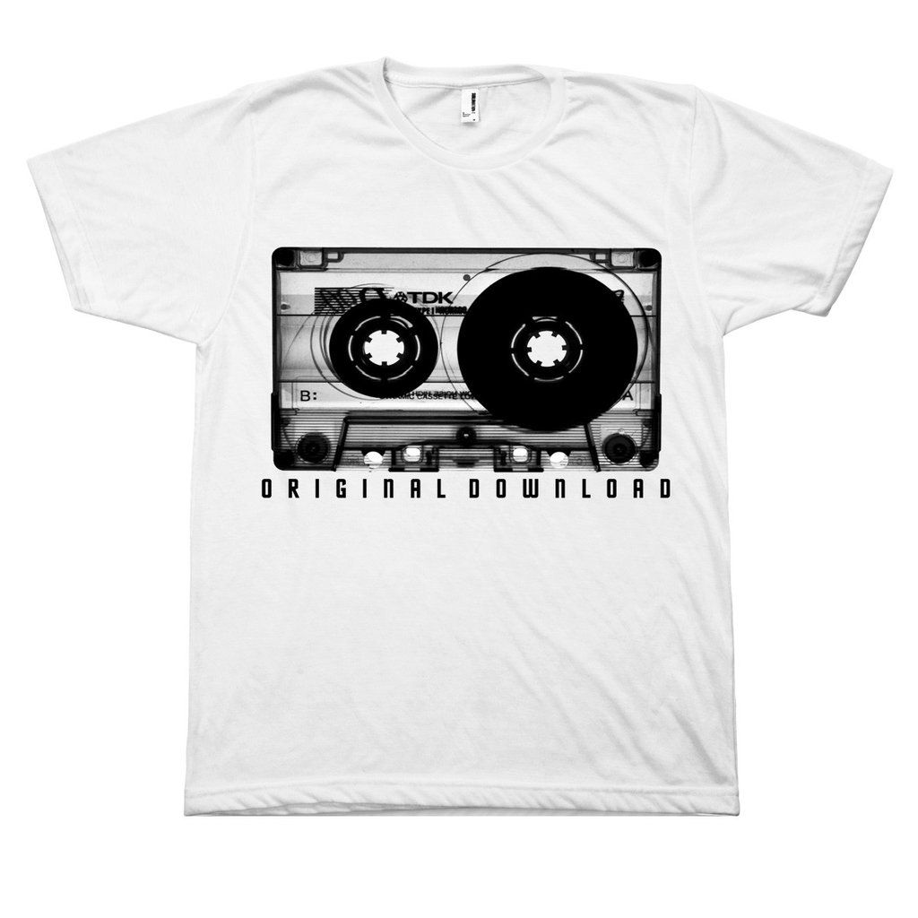 4e746793ed9 A little nostalgia for you....brings back those old school memories! The  Original Download Retro tape cassette t-shirt is 4.3 oz.
