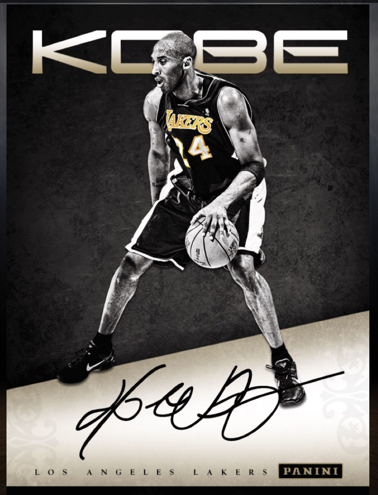 Kobe Bryant Los Angeles Lakers Autograph Card 2015 2016 Panini Dunk Kobe Bryant Los Angeles Lakers Sports Cards
