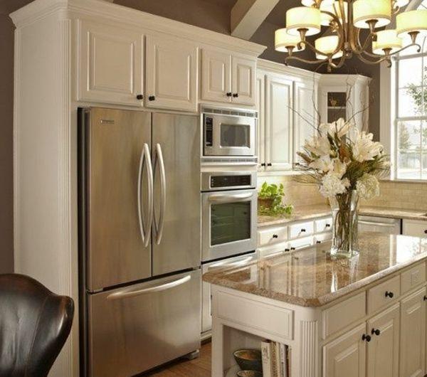 La cuisine blanche du0027hier et aujourdu0027hui - Archzinefr Beautiful - joint pour plan de travail cuisine