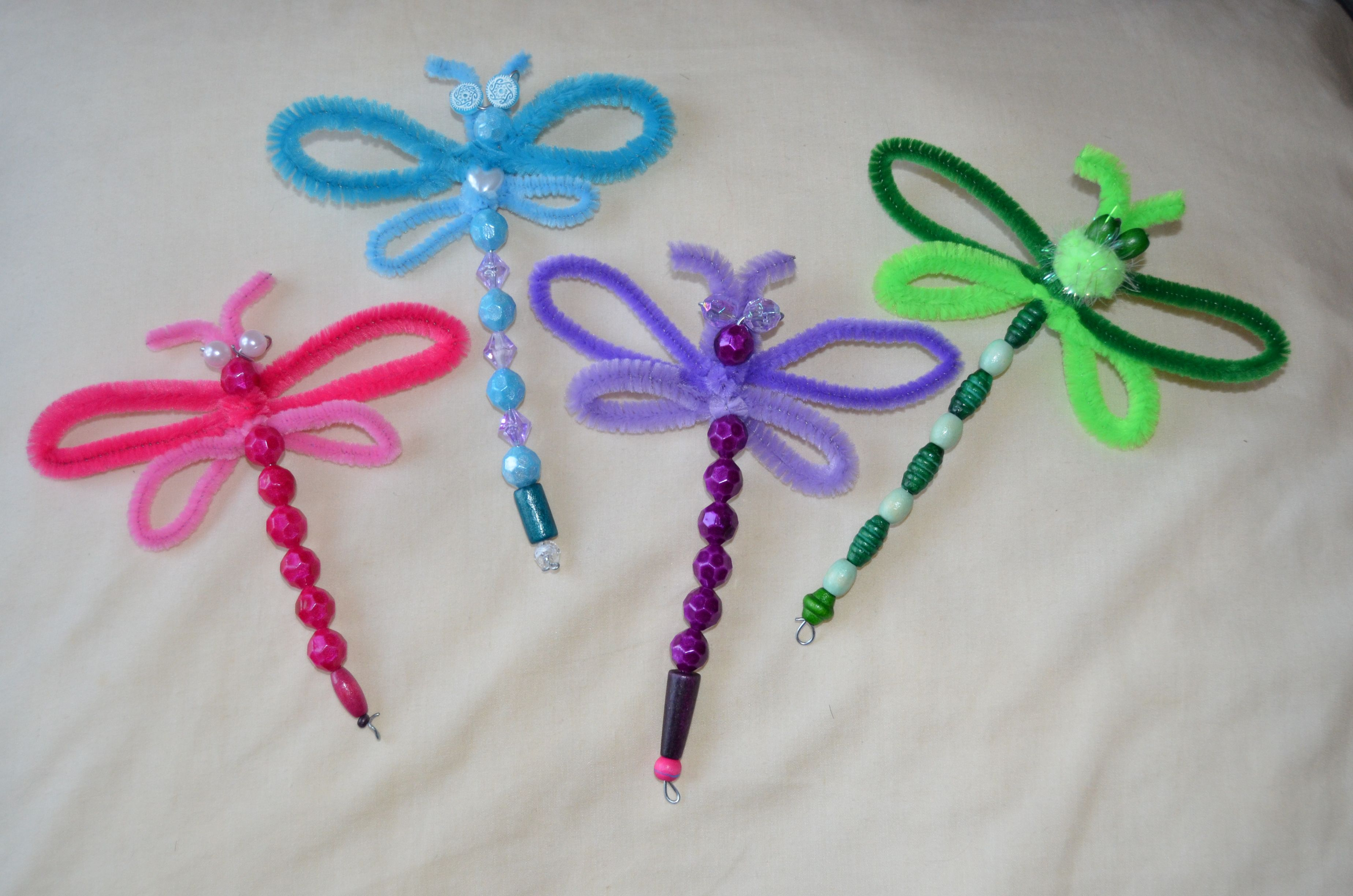 Dragonfly craft crafts for kids pinterest for Craft pipes