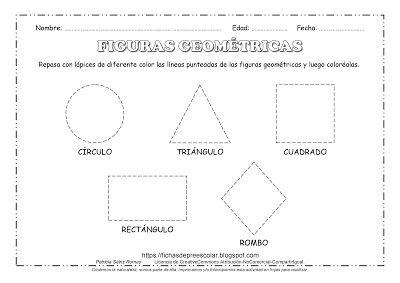Fichas De Educacion Preescolar Cinco Figuras Geometricas Para Repasar Figuras Geometricas Para Preescolar Formas De Aprendizaje Figuras Geometricas