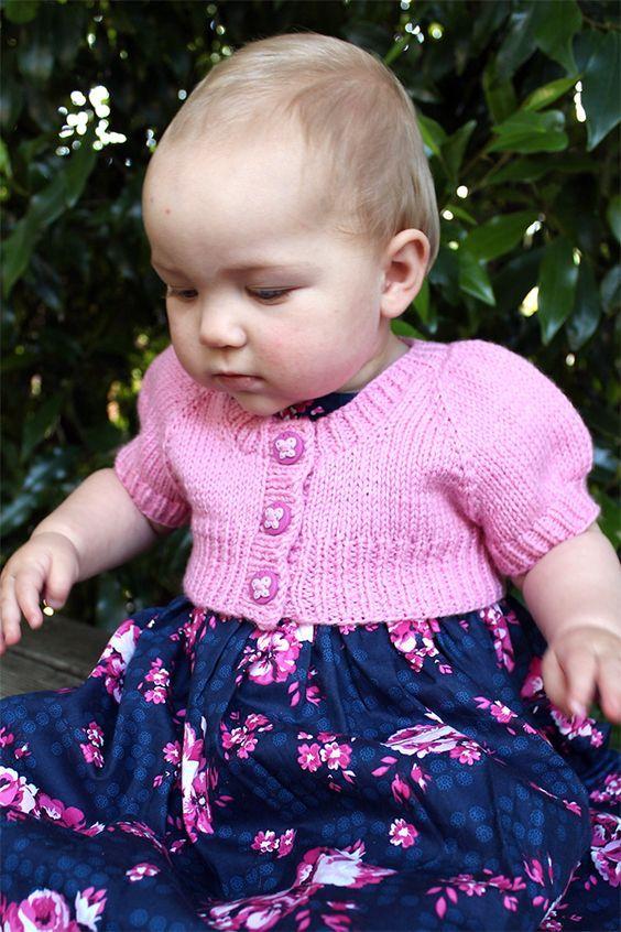 Free Knitting Pattern for Little Scapulae - Baby shrug ...