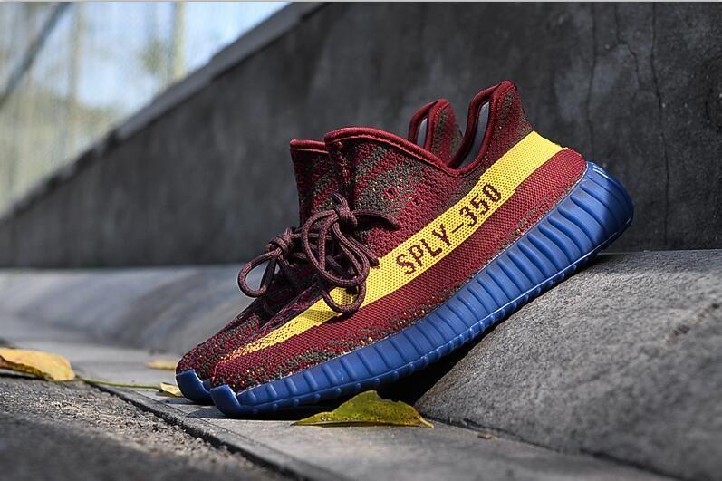 29b9ab3451f Adidas Yeezy Boost 350 V2 NBA Cleveland Cavaliers Wine Yellow ...