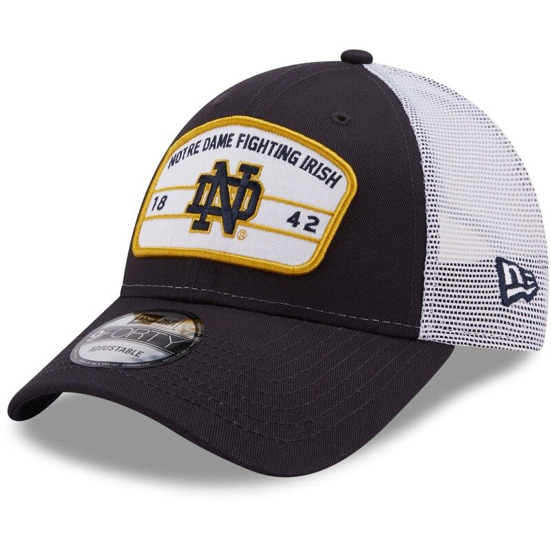 Every member of your family is a born and raised a true Notre Dame Fighting Irish fan. Start their fandom off on the right track by dressing your kiddo in this adorable Notre Dame Fighting Irish Loyalty Trucker 9FORTY snapback hat from New Era! It features a comfortable curved bill and structured fit to make sure it stays in place throughout the game.