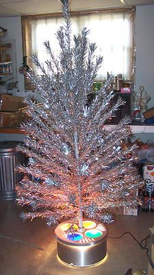 Superb Superb 1960 PECO 6u0027 Aluminum Christmas Tree W/Evergleam Tri Lite Stand!