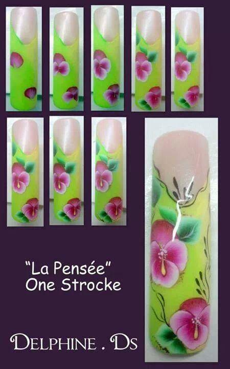 step by step | uñas pinceladas | Pinterest | Uñas pinceladas ...