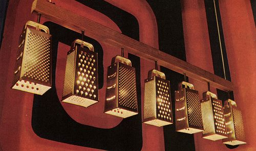 That 70's show kitchen lights- Grater Light Fixtures. DIY?