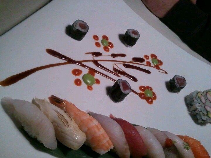 Sushi art at Green Tea restaurant in Bangor, Maine