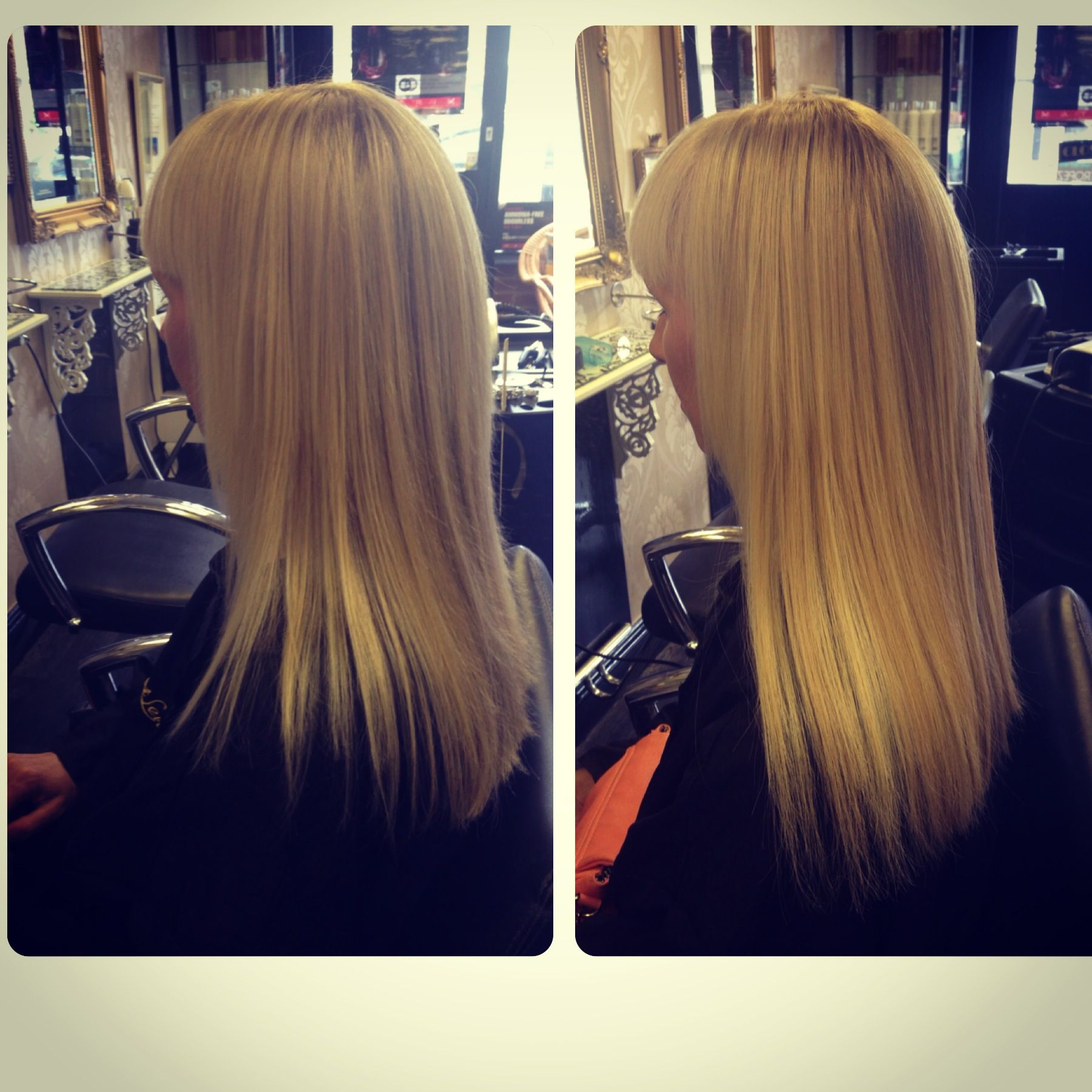 12inch Great Lengths Extensions Added To Fill In Sides Of Clients