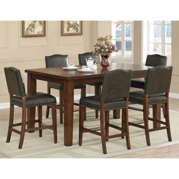Rochester 7 Piece Counter Height Rectangle Dining Set Dining