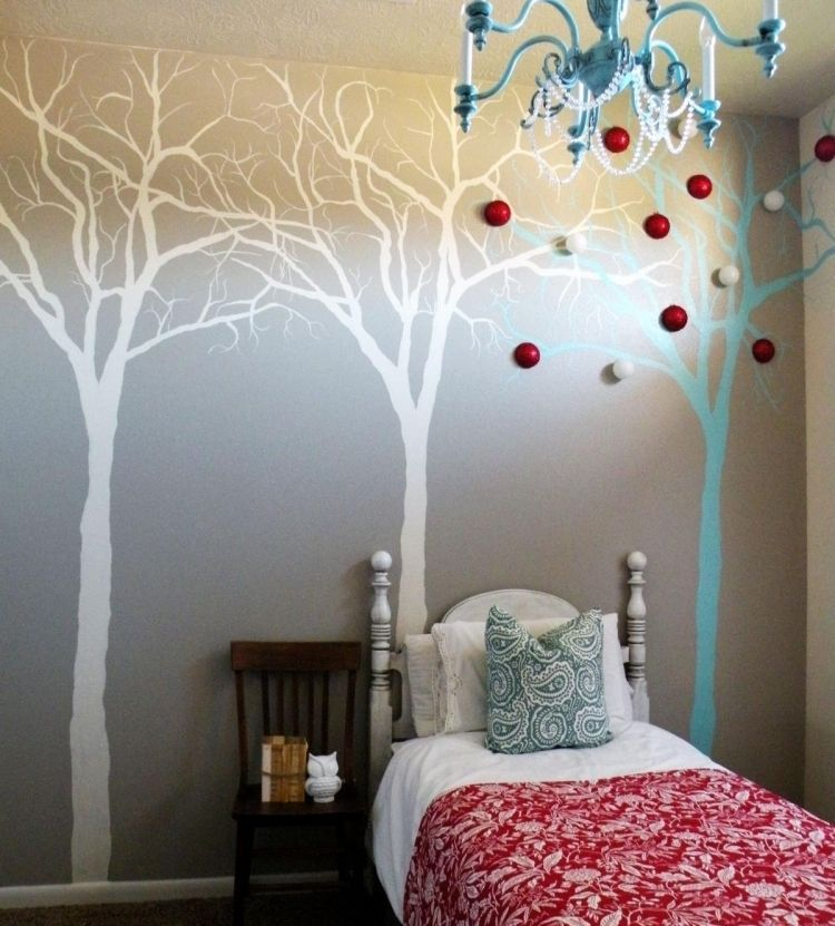 d co murale chambre adulte 37 id es diy et tapes faciles dessin arbre chambre adulte et. Black Bedroom Furniture Sets. Home Design Ideas