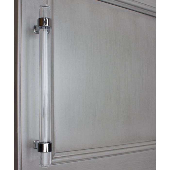 6 5 16 Quot Center Bar Pull Multipack Acrylic Cabinets Clear Acrylic Polished Chrome