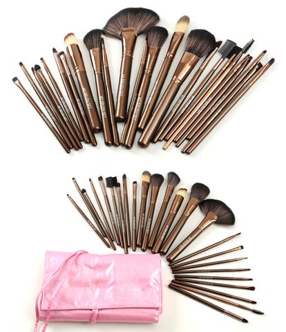 pinmy makeup brush set on 24 piece brush sets  brush
