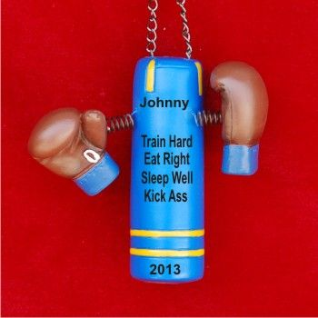 My Bag, My Gloves: Boxing Champ Personalized Christmas Ornament