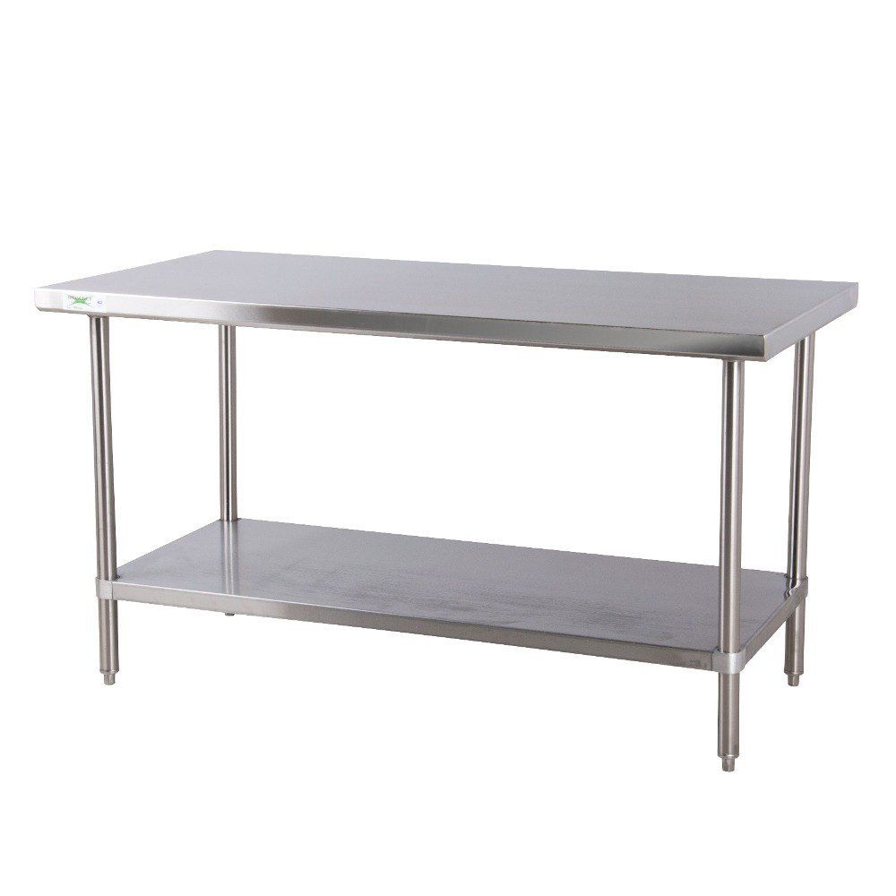 Regency 30 X 72 16 Gauge 304 Stainless Steel Commercial Work Table With Undershelf Stainless Steel Work Table Stainless Steel Bench Kitchen Work Tables